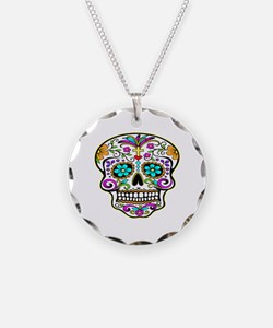 Day Of The Dead Skull 3 Necklace