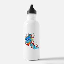 Flaming Tattoo Machine Water Bottle