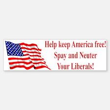 Keep America Free Bumper Bumper Bumper Sticker