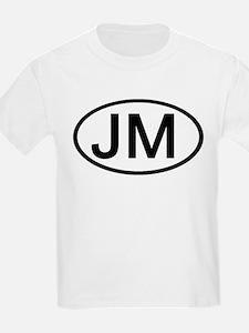 JM - Initial Oval Kids T-Shirt