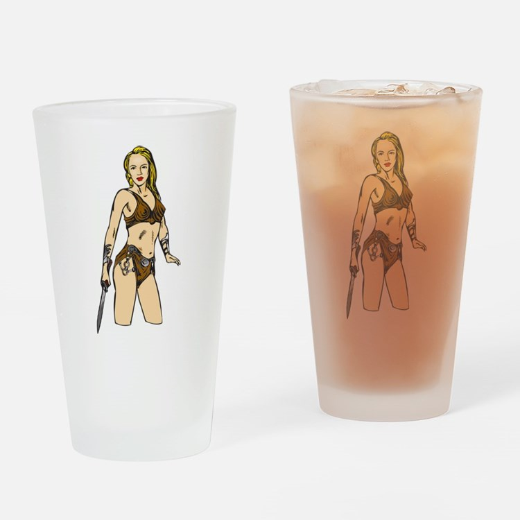 Beautiful Amazon Women Drinking Glass