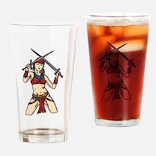 Brave Amazon Women Drinking Glass