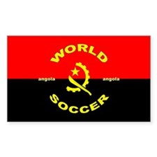 Angola World Cup 2006 Soccer Rectangle Decal
