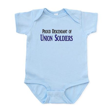 Proud Descendant Of Union Soldiers Infant Bodysuit