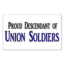 Proud Descendant Of Union Soldiers Decal