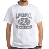Liverpool Mens Classic White T-Shirts