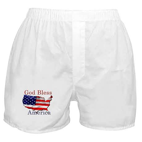 God Bless America Boxer Shorts