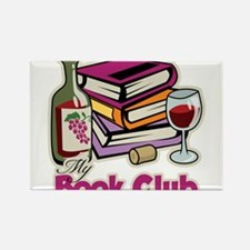 Wine: My Book Club Rectangle Magnet
