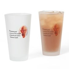 Gandhi Wisdom Drinking Glass