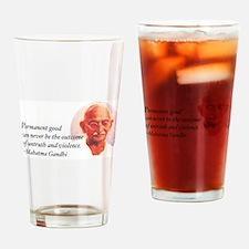 Gandhi Wisdom Drinking Glass