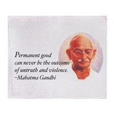 Gandhi Wisdom Throw Blanket