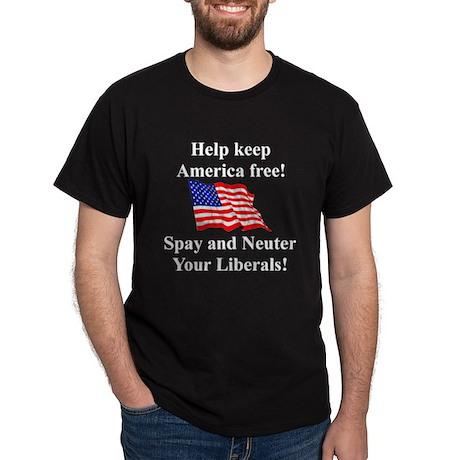 Keep America Free Black T-Shirt