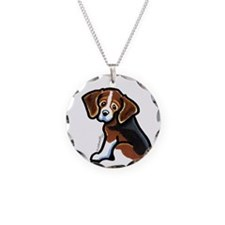 Cute Tri-color Beagle Necklace