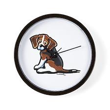 Cute Tri-color Beagle Wall Clock