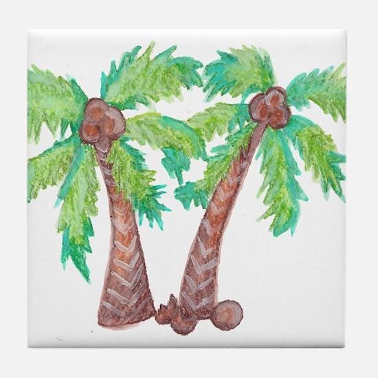 Unique Palm trees Tile Coaster