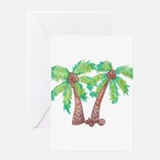 Unique Palm trees Greeting Card