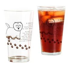 Westie's Drinking Glass