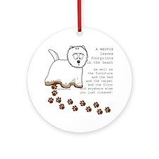 Westie's Ornament (Round)