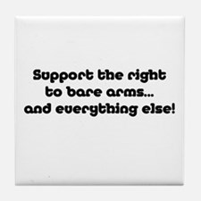 Support the Right... Tile Coaster