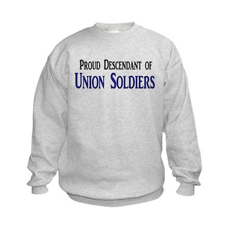 Proud Descendant Of Union Soldiers Kids Sweatshirt