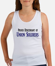 Proud Descendant Of Union Soldiers Women's Tank To