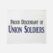 Proud Descendant Of Union Soldiers Throw Blanket
