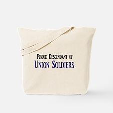 Proud Descendant Of Union Soldiers Tote Bag