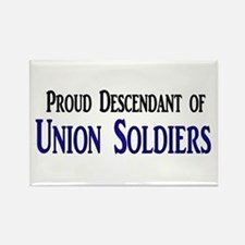Proud Descendant Of Union Soldiers Rectangle Magne