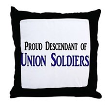 Proud Descendant Of Union Soldiers Throw Pillow