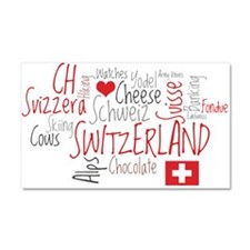 You Have to Love Switzerland Car Magnet 20 x 12