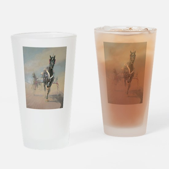 Unique Harness racing Drinking Glass