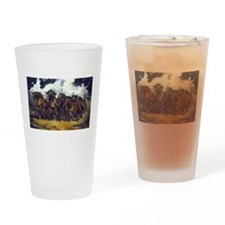 Cute Wild horses running Drinking Glass