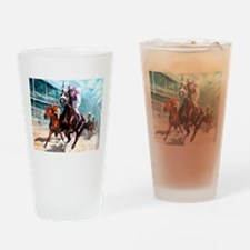 Unique Horse racing Drinking Glass