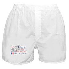 France - Liberty, Equality, F Boxer Shorts