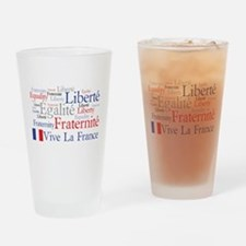 France - Liberty, Equality, F Drinking Glass