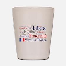 France - Liberty, Equality, F Shot Glass