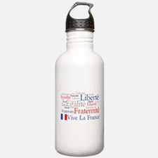 France - Liberty, Equality, F Water Bottle