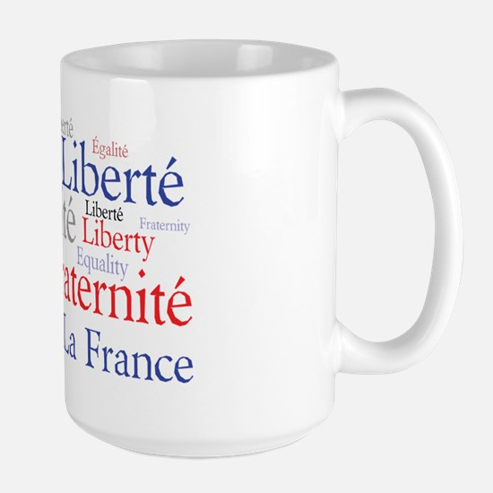 France - Liberty, Equality, F Large Mug