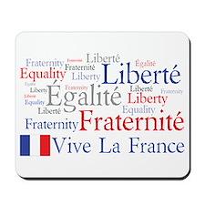 France - Liberty, Equality, F Mousepad