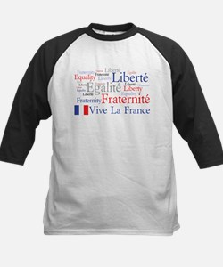 France - Liberty, Equality, F Kids Baseball Jersey
