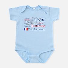 France - Liberty, Equality, F Infant Bodysuit