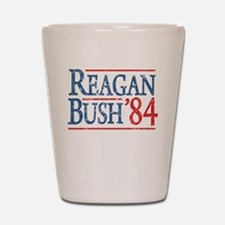 Reagan Bush 84 retro Shot Glass