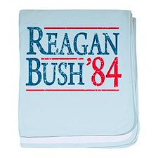Reagan Bush 84 retro baby blanket
