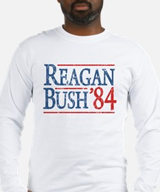 Reagan Bush 84 retro Long Sleeve T-Shirt