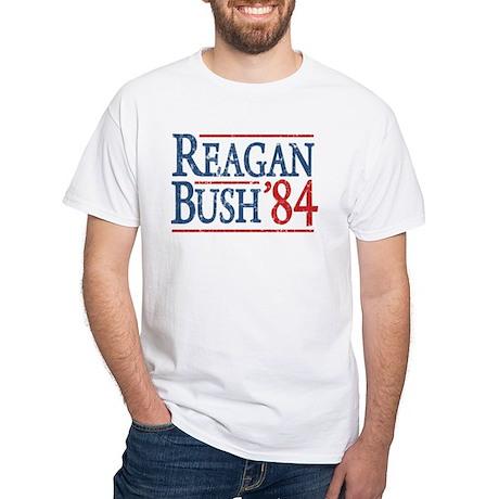 Reagan Bush 84 retro White T-Shirt