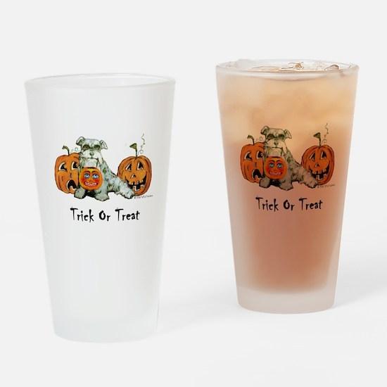 Spooky Schnauzer Halloween Tr Drinking Glass