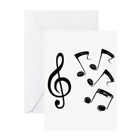 G-clef with Musical NOTES IV Greeting Card