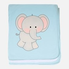 Cartoon Elephant baby blanket