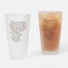 Cartoon Elephant Drinking Glass