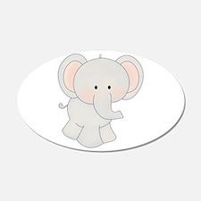Cartoon Elephant 22x14 Oval Wall Peel